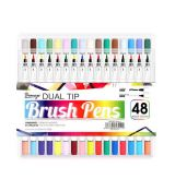 Brush Pens Bianyo Dual Tips sada 48 ks
