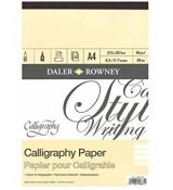 Daler-Rowney Calligraphy Pad 90 g/m2, A4, 32 listů