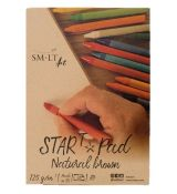 Skicák SMLT Art Start Pad Natural brown, gramáž 125 gsm, 20 listů, lepený